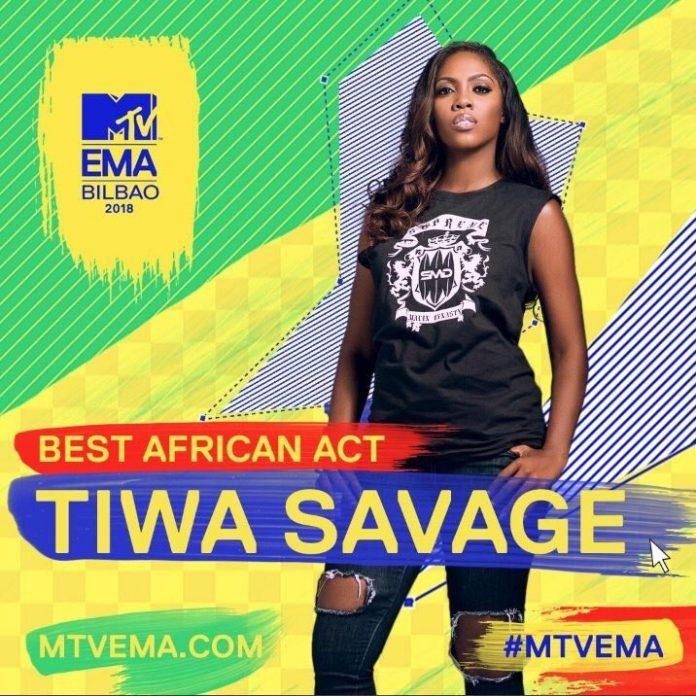 Tiwa Savage,Camila Cabello, Nicki Minaj Win Big; MTV EMA Winners 2018 Full List