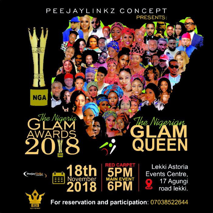 The Date Is Set For The Nigeria Glam Awards and The Nigerian Glam Queen 2018